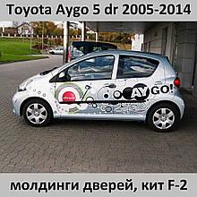 Молдинги на двери для Toyota Aygo 5 dr 2005-2014