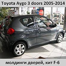 Молдинги на двери для Toyota Aygo 3 dr 2005-2014