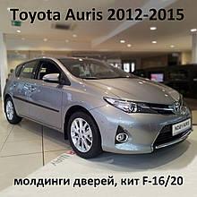 Молдинги на двері для Toyota Auris II 2012-2015