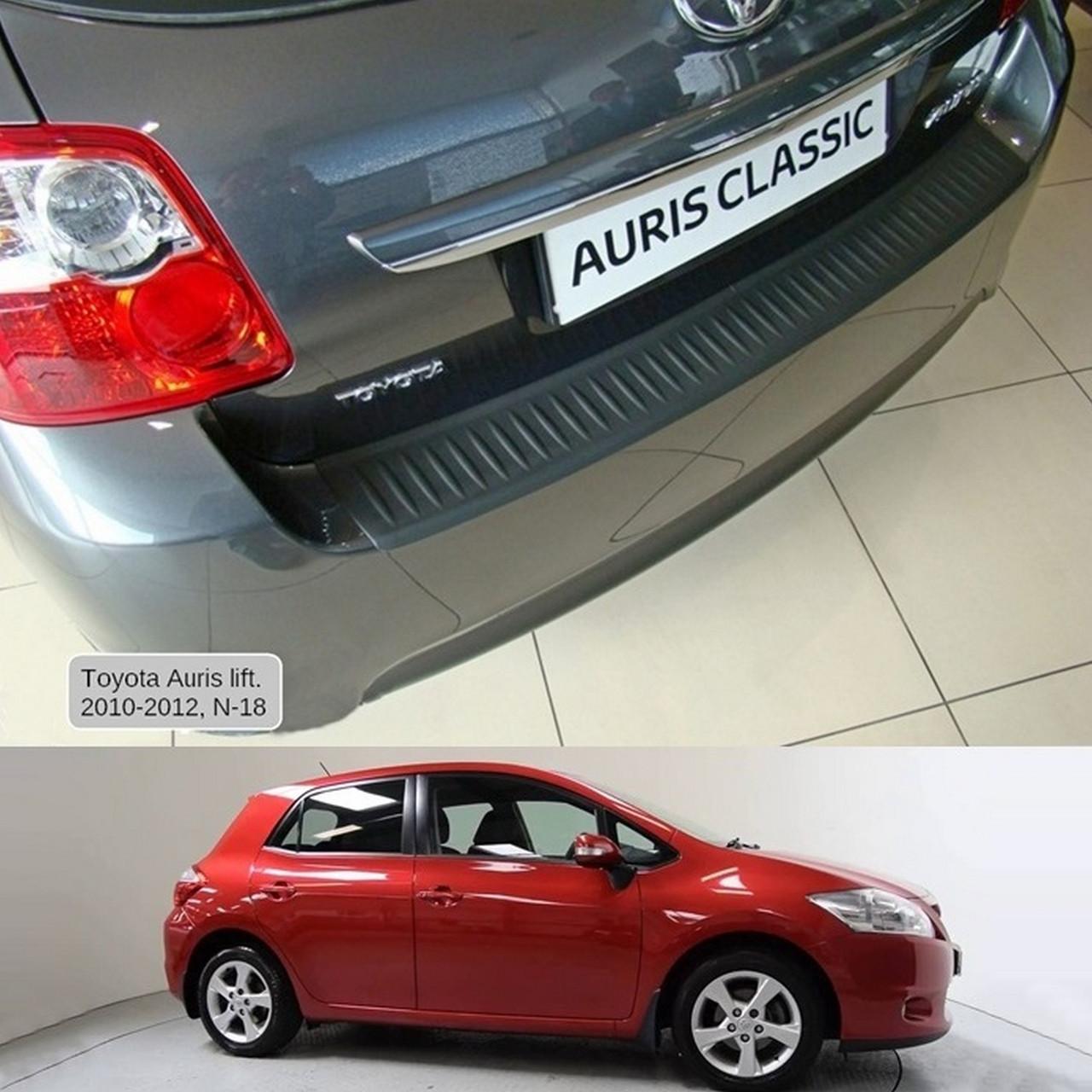 Пластиковая защитная накладка на задний бампер для Toyota Auris 3/5dr. 2010-2012