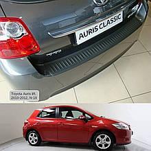 Пластикова захисна накладка на задній бампер для Toyota Auris 3/5dr. 2006-2012
