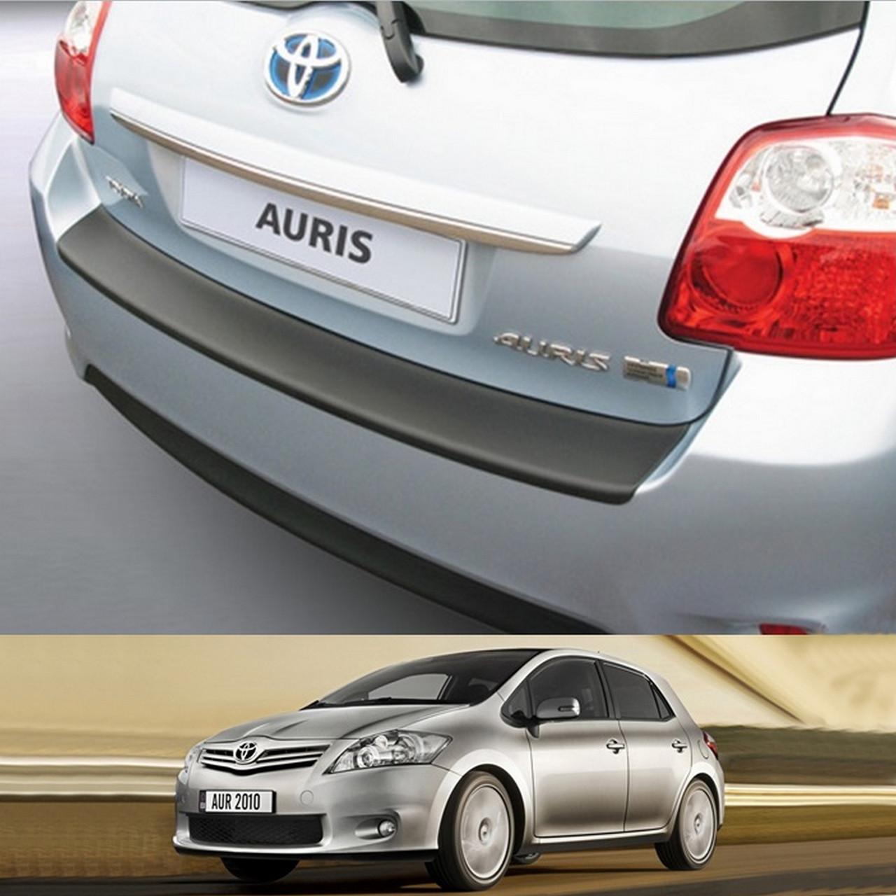 Пластиковая защитная накладка на задний бампер для Toyota Auris 3/5dr 2010-2012