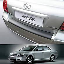 Пластиковая защитная накладка на задний бампер для Toyota Avensis T25 4dr sedan 3.2003-12.2008