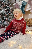 Свитер Снежинка, красный, фото 1