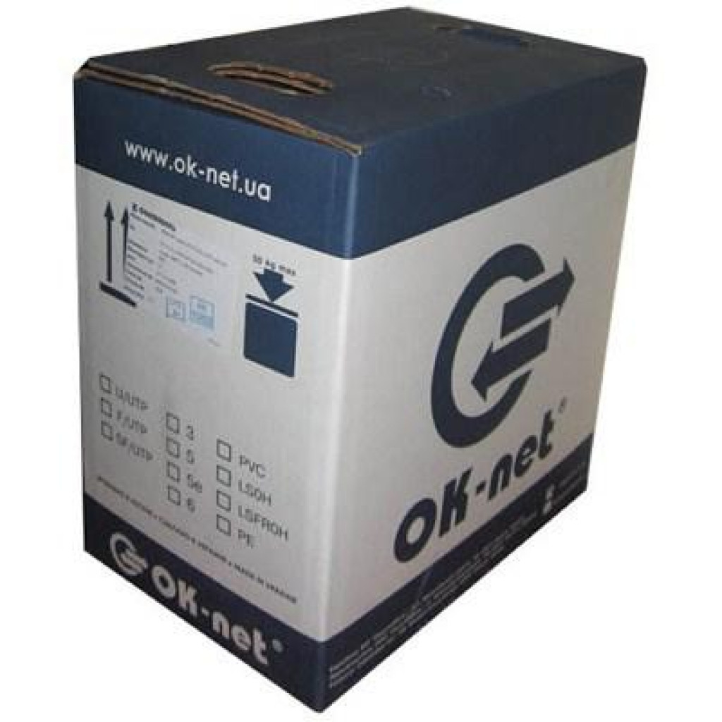 Кабель сетевой OK-Net UTP 500м 2 пары (КПВ-ВП (100) 2х2х0,50 / 500)