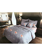 """Двуспальный комплект постельного белья из бязи Большие фламинго (простынь 200х220 см) ТМ """"KrisPol"""" 180х220см  (157452)"""