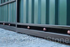 Кованные ворота с калиткой ВК-03