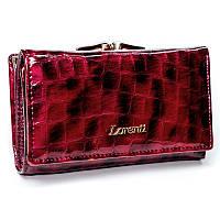 Женский лаковый кошелек в 3 сложения Lorenti 55020-PT Red