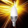 Светодиодная лампа ELECTRUM С37 5W E14 4000 AL LC-14 на ветру A