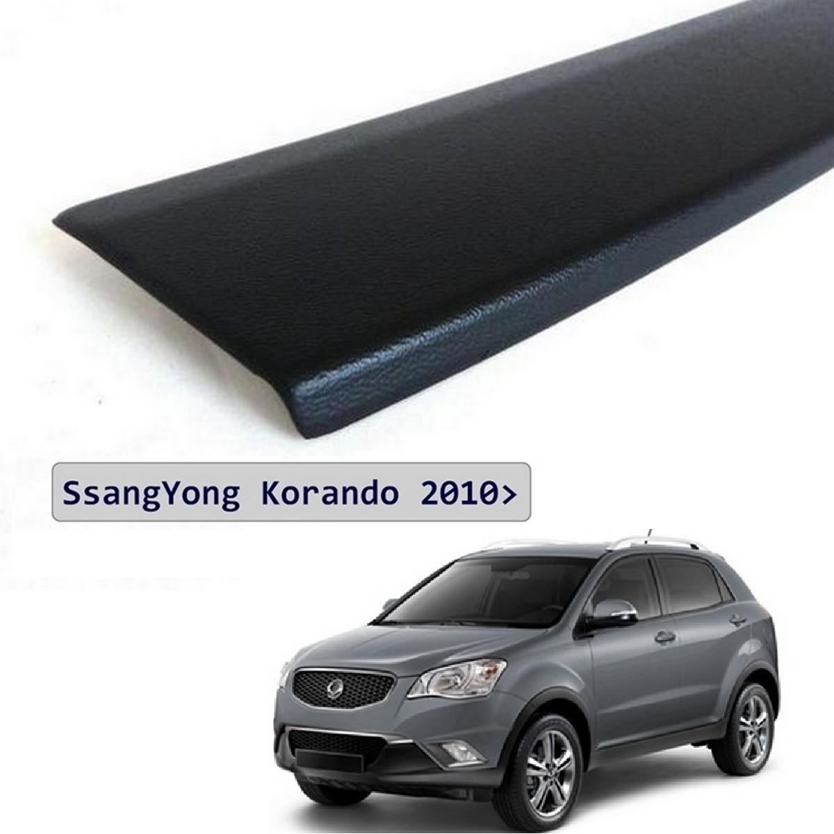 Пластиковая защитная накладка заднего бампера для SsangYong Korando 2010-2017