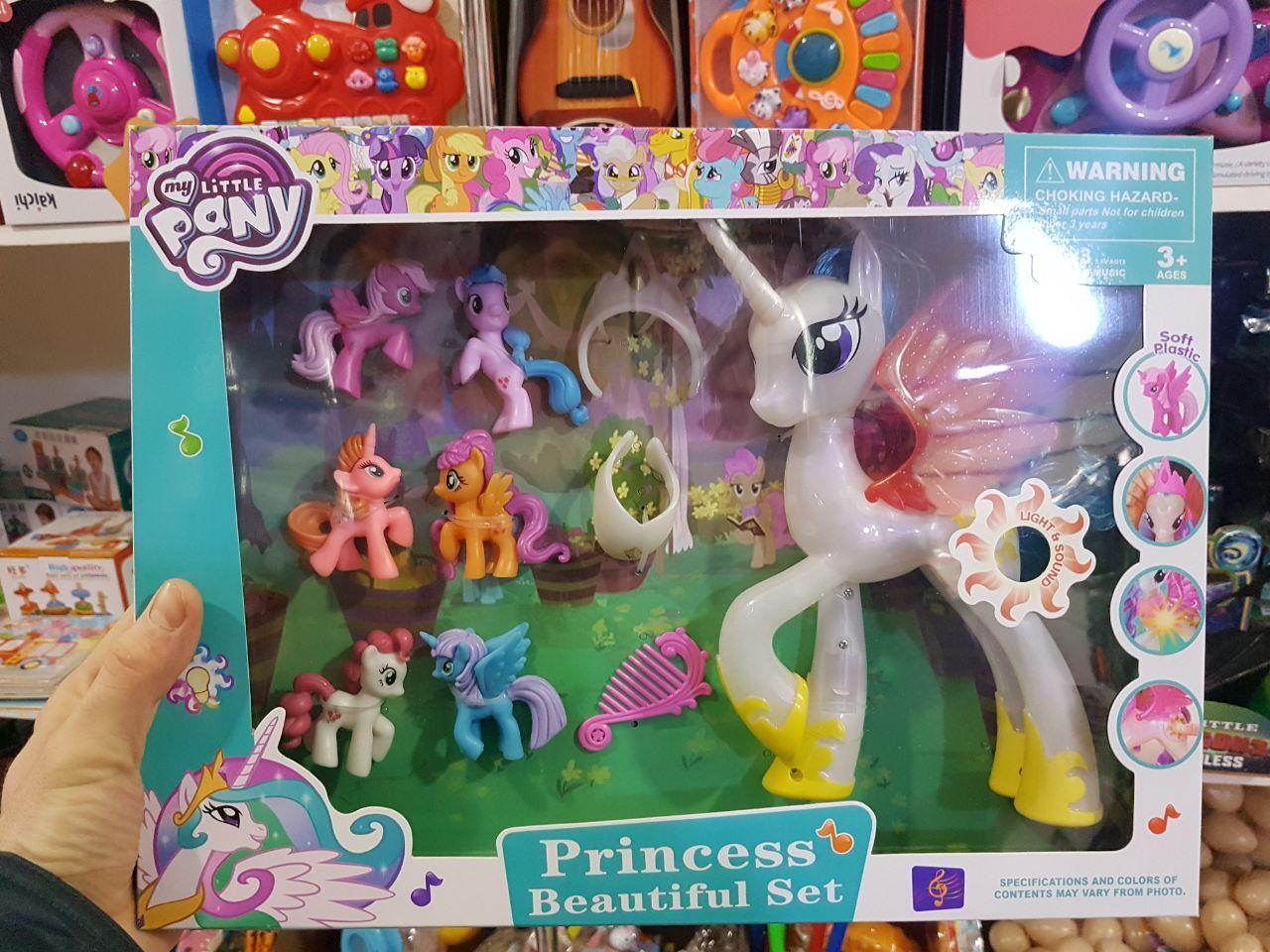 Набор Моя маленькая пони My little pony музыкальная Большая пони и 6 минифигурок mly-013