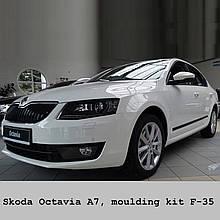 Молдинги на двері для Skoda Octavia III A7 5dr Liftback 6.2013-2.2017