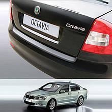 Пластикова захисна накладка заднього бампера для Skoda Octavia II A5 Sedan lift.1.2009-1.2013