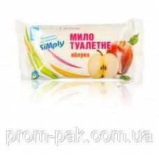 Туалетное мыло Simply, твердое 65 г, яблоко