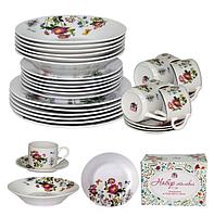 """Набор обеденный на 6 персон """"Полевые цветы"""", фарфор (30 предметов)"""