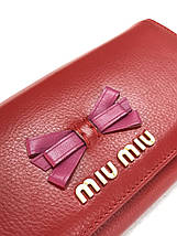 Женский кошелёк Miu Miu кожаный, фото 3