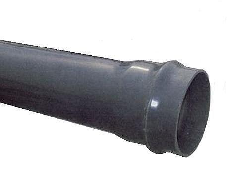 Труба напорная НПВХ, d 90x4.3 мм, SDR26, PN10,  для воды или канализации
