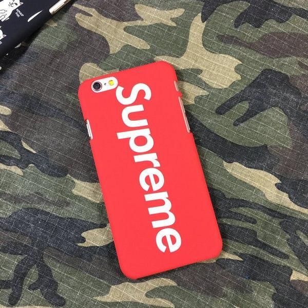 Чехол с вертикальным логотип Supreme для iPhone