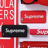 Чехол с вертикальным логотип Supreme для iPhone, фото 2