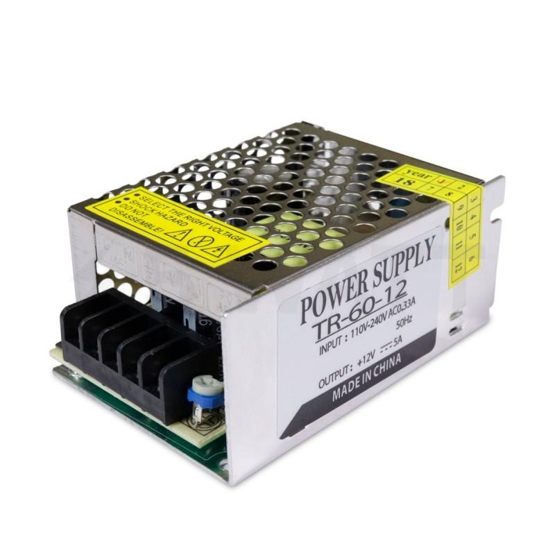 Блок питания 12V для светодиодной ленты 60W(5A)