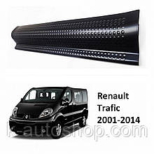 Пластикові захисні накладки на пороги для Renault Trafic 2001-2014