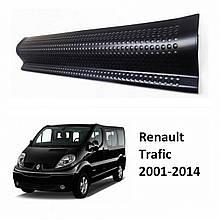 Пластиковые защитные накладки на пороги для Renault Trafic 2001-2014