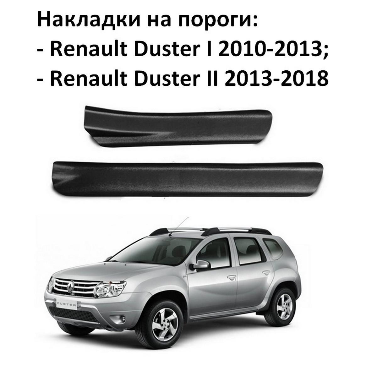 Накладки на пороги Renault Duster