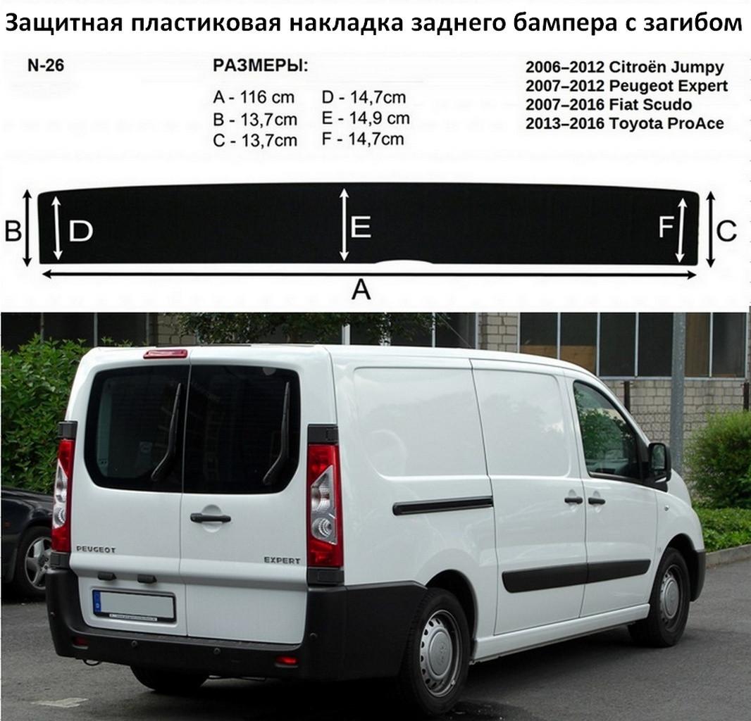 Накладка заднего бампера Peugeot Expert II 2007-2017