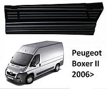 Захисні пластикові накладки на пороги для Peugeot Boxer II 2006-2014, LIFT 2014+