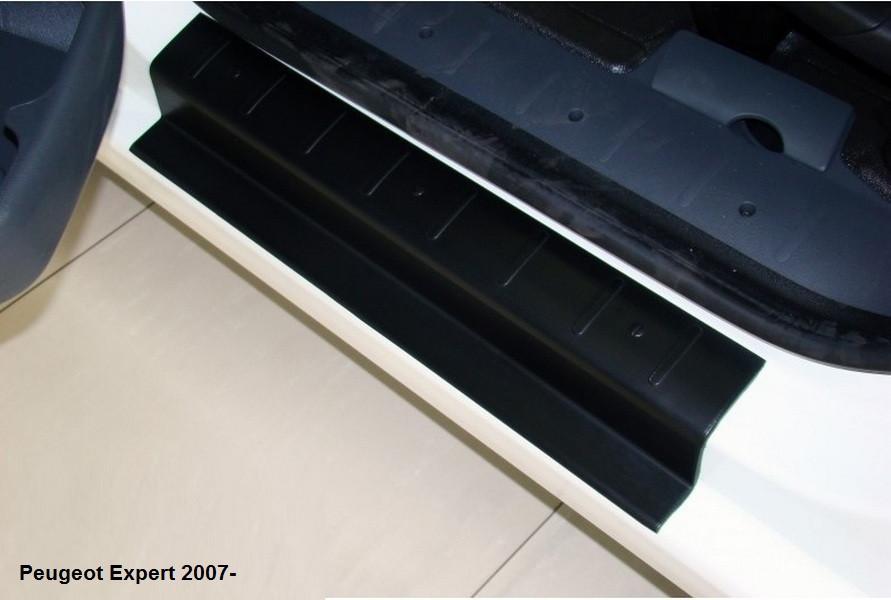 Защитные накладки на пороги для Peugeot Expert с 2007-, пластик ABS