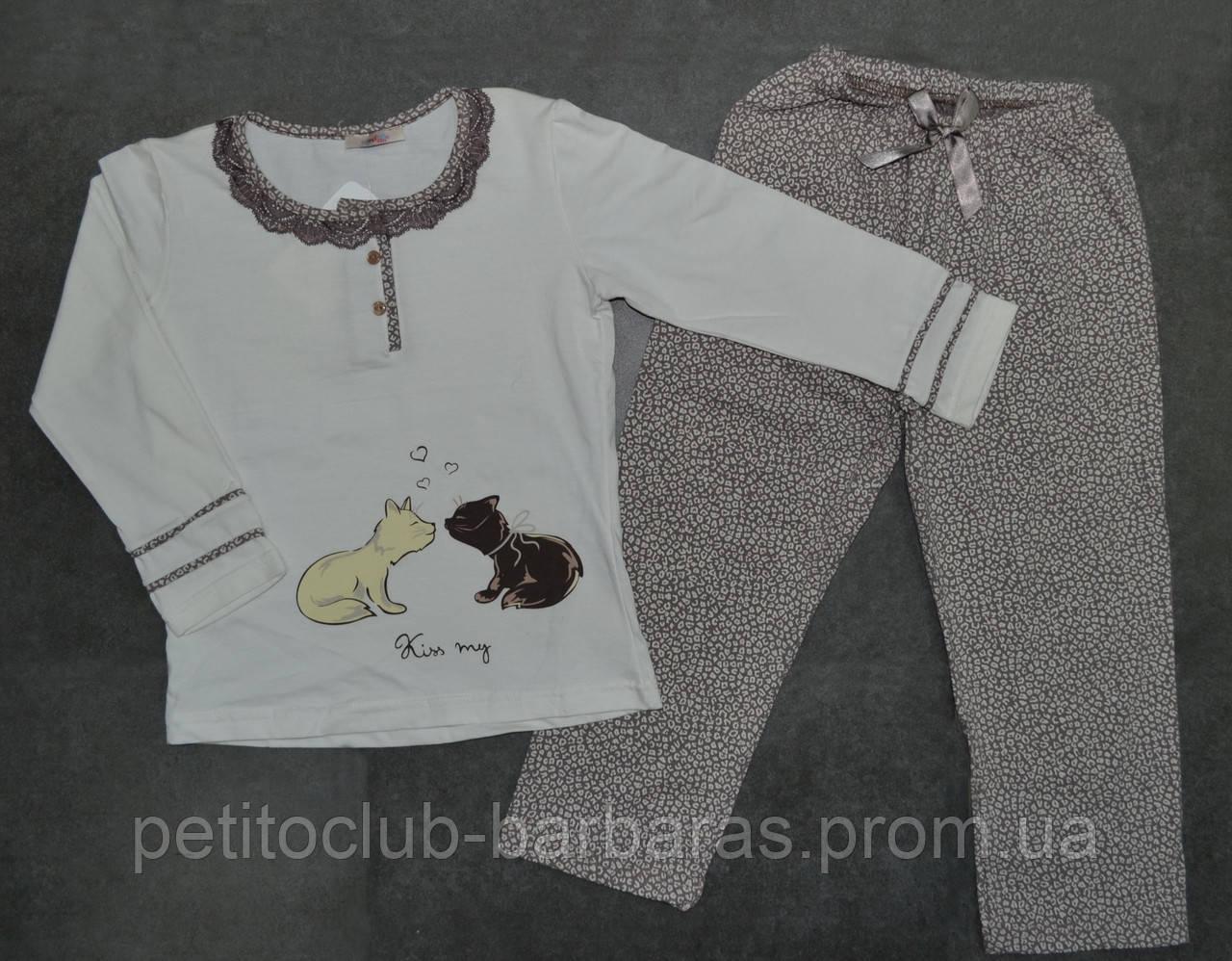 """Качественная детская пижама для девочки """"Kiss my"""" (Sevim, Турция)"""