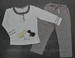 """Детская пижама для девочки """"Kiss my"""" (р. 92-128 см) (Sevim, Турция)"""