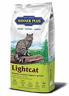 Полнорационный сухой корм для стерилизованных котов Winner Plus LIGHTCAT (100050-2) 10 кг