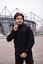 Мужской костюм черный демисезонный Softshell Intruder. Куртка мужская черная, штаны утепленные. Бафф в подарок, фото 2