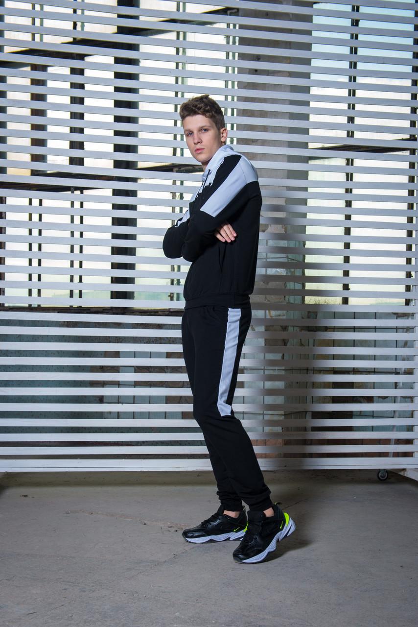 Мужской спортивный костюм  черный-белый Spirited Intruder + Подарок
