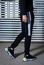 Мужской спортивный костюм  черный-белый Spirited Intruder + Подарок, фото 6
