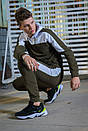 Мужской спортивный костюм  хаки-белый Spirited Intruder + Подарок, фото 3