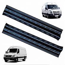 Пластикові захисні накладки на пороги для Mercedes-Benz Sprinter W906 2006-2018
