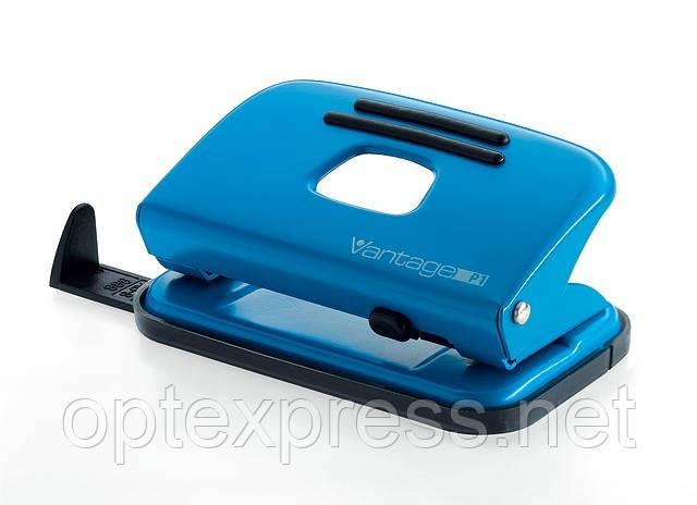 Дырокол металлический офисный Vantage NOVUS голубой