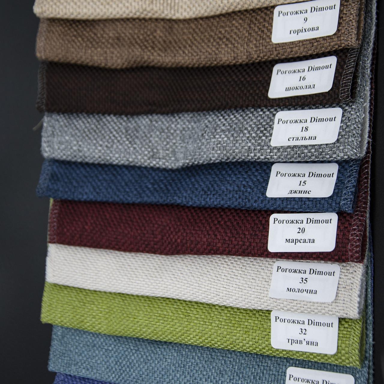 Римські штори Рогожка Dimout (10 варіантів кольору)