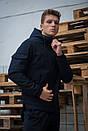Мужской костюм синий демисезонный Softshell Intruder. Куртка мужская синяя, штаны утепленные. Бафф в подарок, фото 4