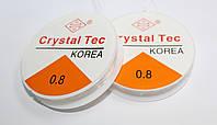 Силиконовая леска-резинка, прозрачная. Crystal Tec, Корея