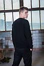 Мужской свитшот флисовый черный Intruder, фото 3