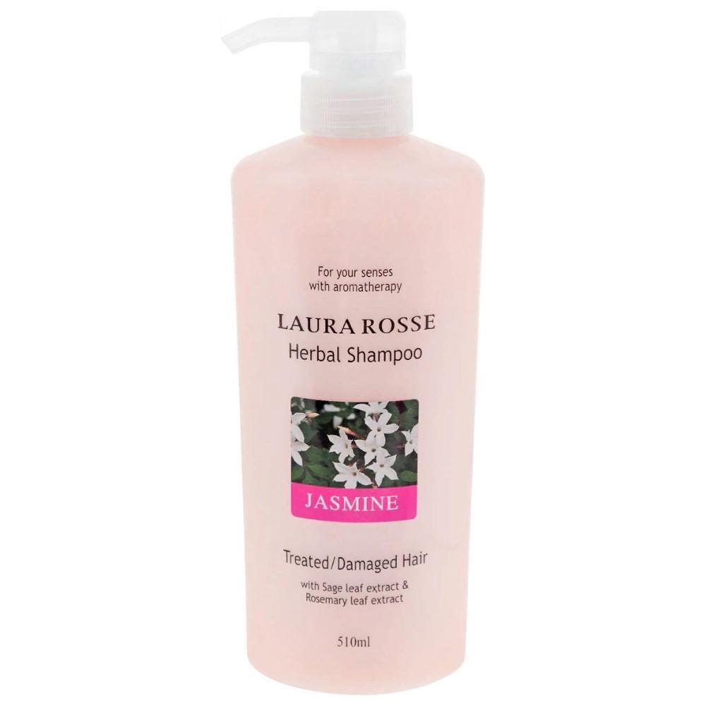 Шампунь для для сухих и ослабленных волос Жасмин Laura Rosse Herbal Shampoo Jasmine 510 мл (8809120295684)
