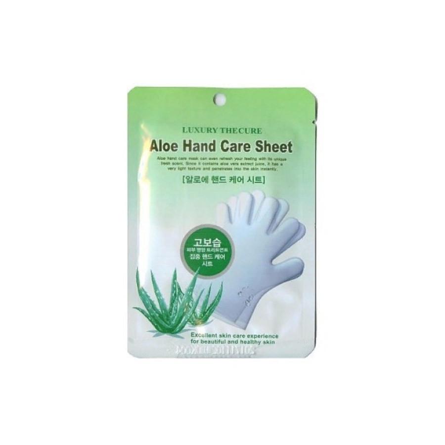 Увлажняющая маска для рук с экстрактом алоэ Co-Arang Luxury The Qure Aloe Hand Care Sheet 16 г (8809295014943)