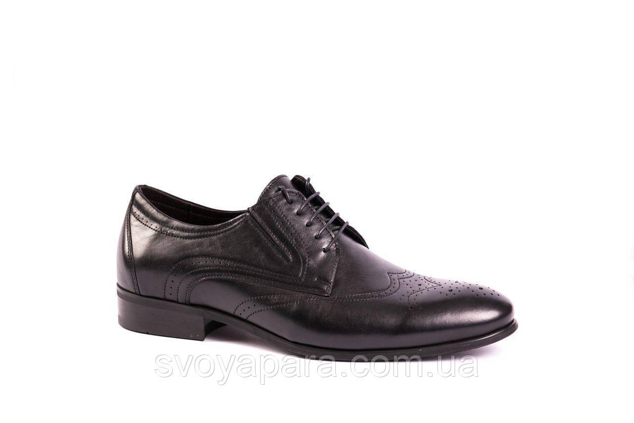 Туфлі броги чорні ІКОС