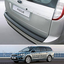 Пластикова захисна накладка на задній бампер для Ford Focus Mk2 Turnier LIFT 2007-2011