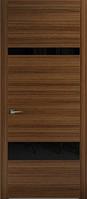 Двери межкомнатные (шпон Fine-Line І категория) Патагония со стеклом Лакобель
