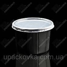 Контейнер круглий з кришкою До 115, 500мл, PP, Чорний