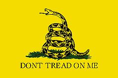 Флаг Гадсденовский Standart (1,5х1 м)